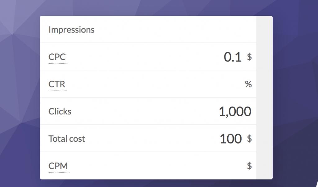 Cost Per Click (CPC) Demo