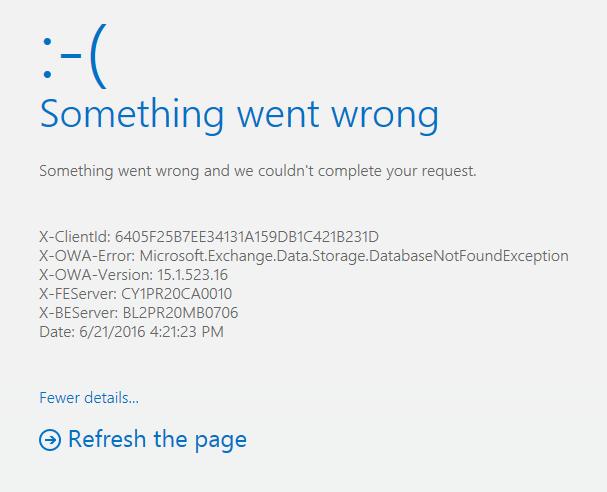 X-OWA-Error Microsoft.Exchange.Data.Storage image by paayi