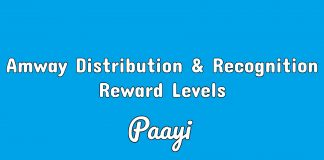 Amway Distribution & Recognition Reward Levels