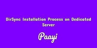 DirSync Installation Process on Dedicated Server