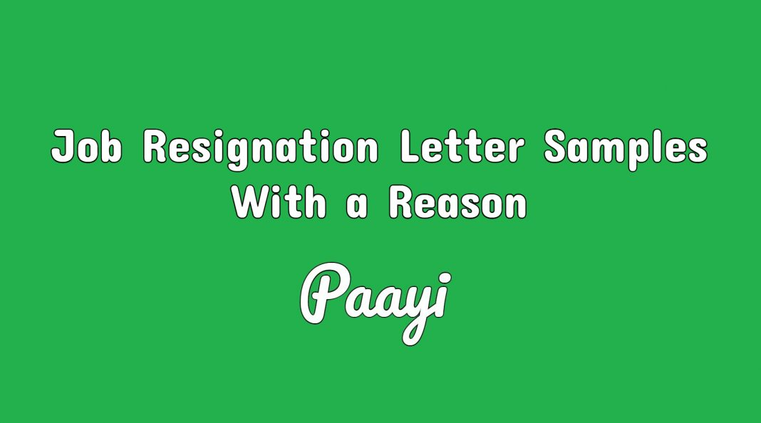 Job resignation letter samples with a reason resignation letter job resignation letter samples with a reason expocarfo Choice Image