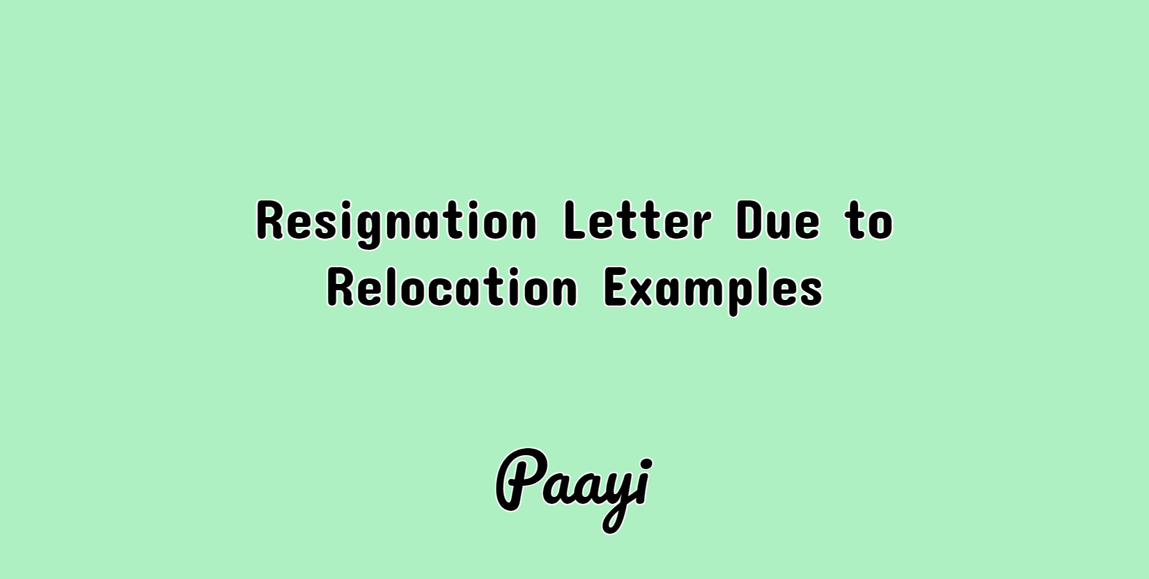 Resignation Letter Due To Relocation Examples Career Help Paayi