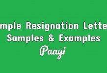 Simple Resignation Letters Samples & Examples
