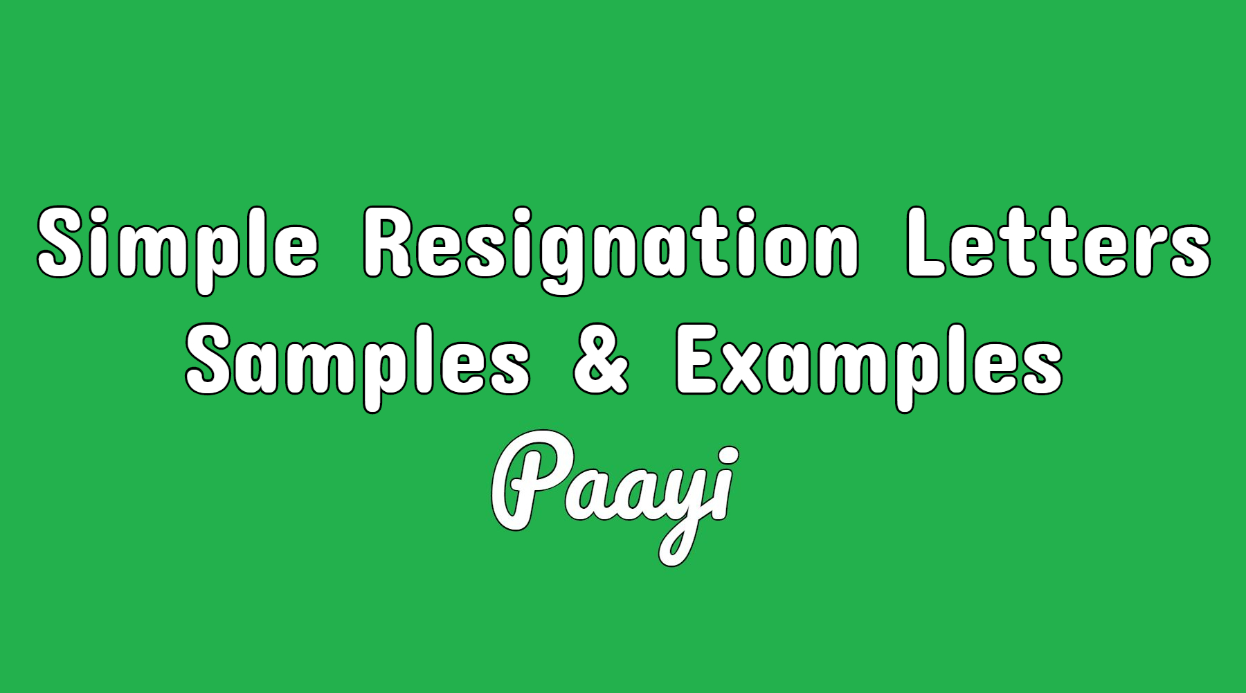 simple resignation letters samples examples