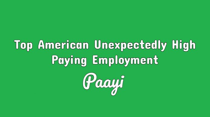 Top American Unexpectedly High Paying Employment