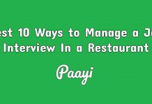 Best 10 Ways to Manage a Job Interview In a Restaurant