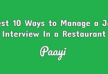 Best 10 Ways to Manage a Job Interview In a Restaurant