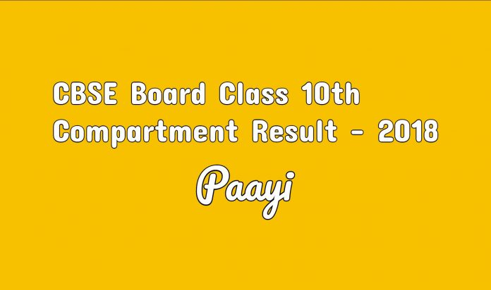 CBSE Board Class 10th Compartment Result 2018 sarkari result on paayi
