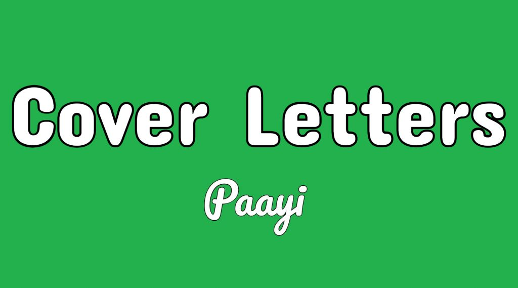 Cover letter writing tips and techniques on paayi