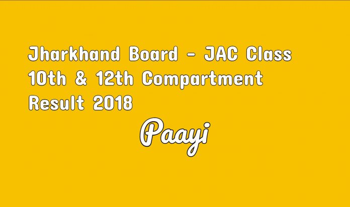Jharkhand Board - JAC Class 10th & 12th Compartment Result 2018 sarkari result on paayi