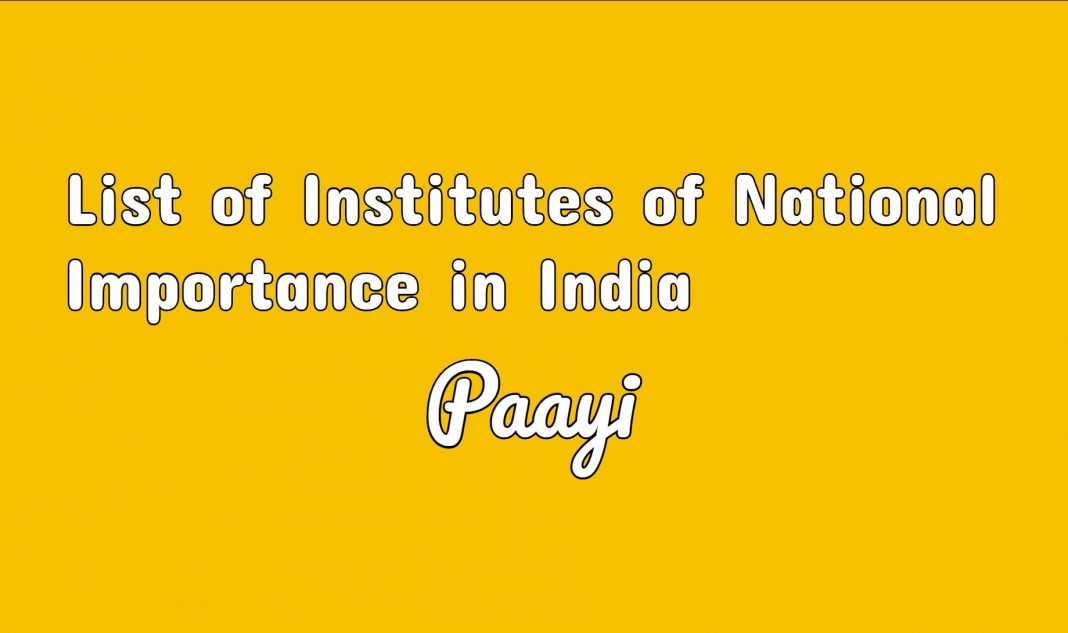 List of Institutes of National Importance in India