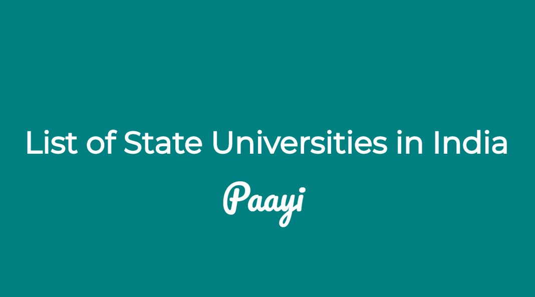 List of State Universities in India