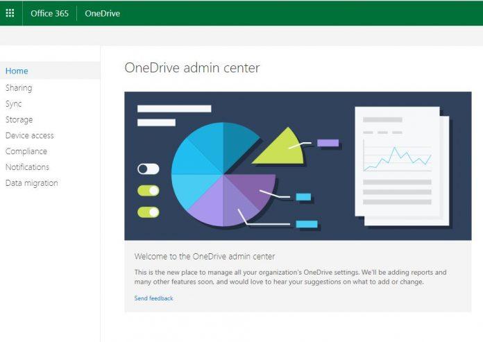 Office 365 OneDrive Admin Center