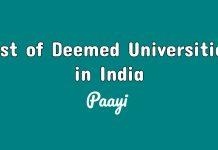 List of Deemed Universities in India