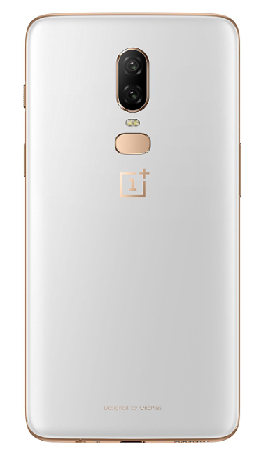 Oneplus 6 White Back Side with Dual Camera