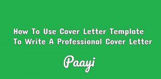 How To Use Cover Letter Template To Write A Professional Cover Letter, Paayi