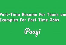 Part-Time Resume For Teens and Examples For Part Time Jobs, Paayi