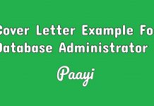 Cover Letter Example For Database Administrator, Paayi