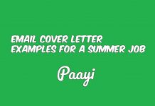 Email Cover Letter Examples For A Summer Job, Paayi