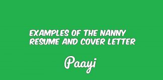 Examples of The Nanny Resume And Cover Letter, Paayi