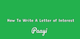 How To Write A Letter of Interest , Paayi