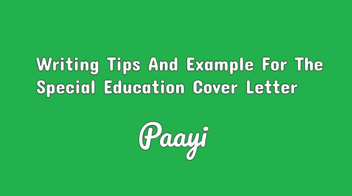 Writing Tips And Example For The Special Education Cover Letter, Paayi
