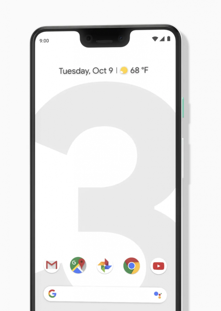 Pixel 3 Design and Notch