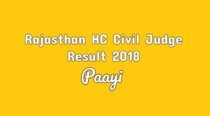 Rajasthan HC Civil Judge Result 2018