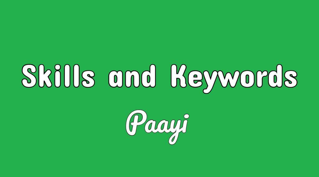 Skills and Keywords
