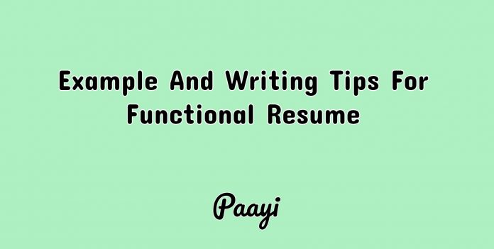 Example And Writing Tips For Functional Resume, Paayi