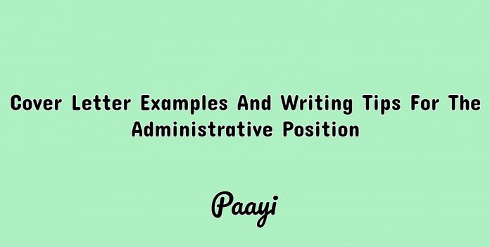 Cover Letter Examples And Writing Tips For The Administrative Position image