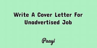 Write A Cover Letter For Unadvertised Job, Paayi