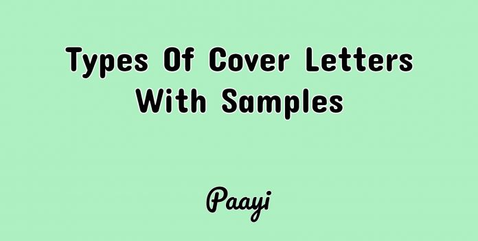 Types Of Cover Letters With Samples, Paayi