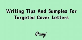 Writing Tips And Samples For Targeted Cover Letters, Paayi