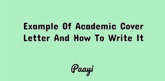 Example Of Academic Cover Letter And How To Write It, Paayi