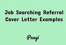Job Searching Referral Cover Letter Examples, Paayi