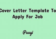 Cover Letter Template To Apply For Job, Paayi