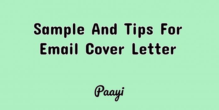 Sample And Tips For Email Cover Letter, Paayi