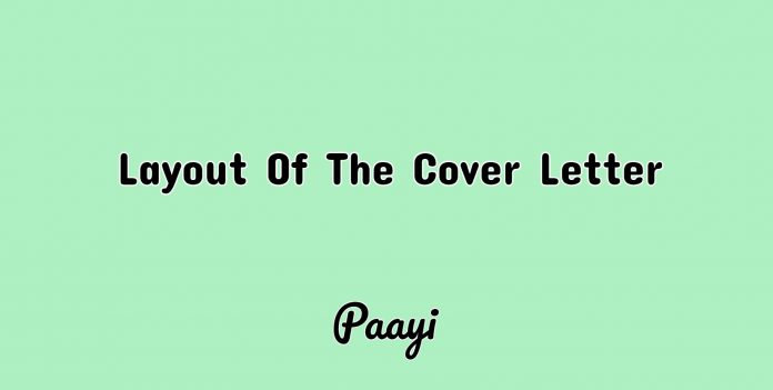 Layout Of The Cover Letter, Paayi