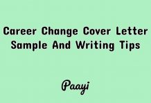 Career Change Cover Letter Sample And Writing Tips, Paayi