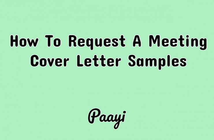 How To Request A Meeting Cover Letter Samples, Paayi