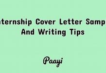 Internship Cover Letter Sample And Writing Tips, Paayi