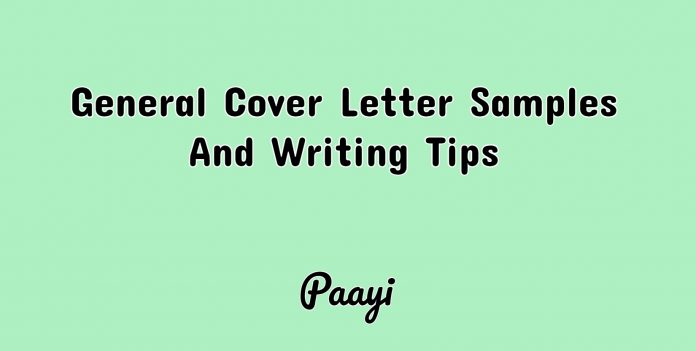 General Cover Letter Samples And Writing Tips, Paayi