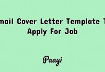 Email Cover Letter Template To Apply For Job, Paayi