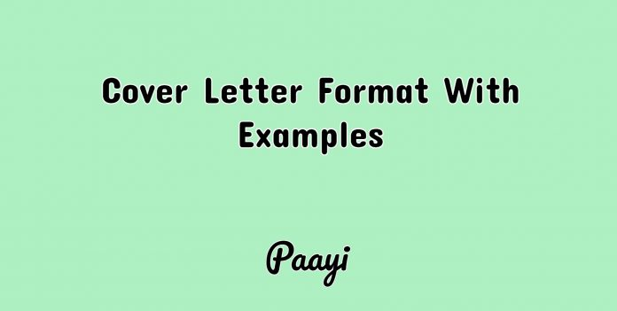 Cover Letter Format With Examples, Paayi