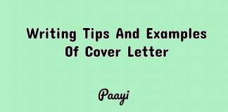Writing Tips And Examples Of Cover Letter, Paayi