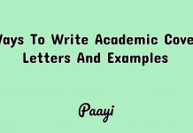 Ways To Write Academic Cover Letters And Examples, Paayi