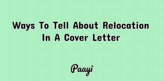 Ways To Tell About Relocation In A Cover Letter, Paayi