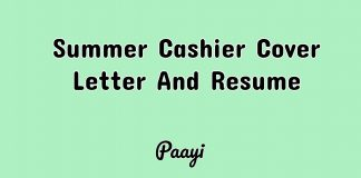 Summer Cashier Cover Letter And Resume, Paayi