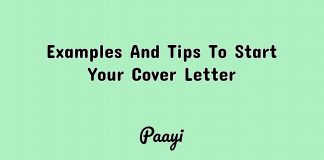 Examples And Tips To Start Your Cover Letter, Paayi